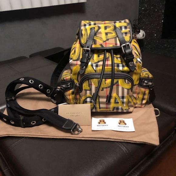 35972dbbc0a7 Burberry graffiti rucksack Backpack